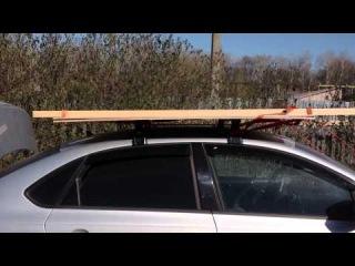Багажник на крышу для VW polo. Фольксваген поло седан. Вариант крепления длинномеров.