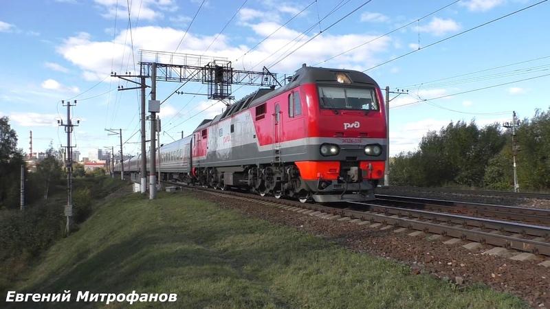 Электровоз ЭП2К-338 (ТЧЭ-33) со скорым фирменным поездом Волгоград №001И, Москва - Волгоград.