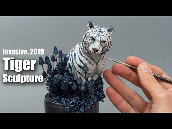 Tiger Sculpture - Time Lapse - Epoxy Clay