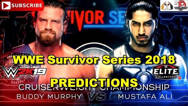 WWE Survivor Series 2018 Cruiserweight Championship Buddy Murphy vs Mustafa Ali Predictions WWE 2K19