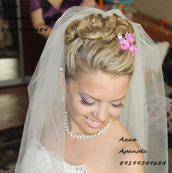 Свадебные прически макияж свадебный