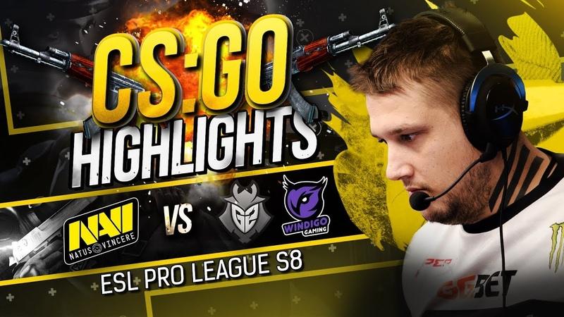 CSGO Highlights NAVI vs G2, Windigo @ ESL Pro League S8
