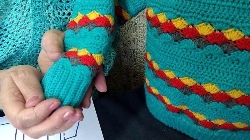 Вязание крючком для детей от О.С. Литвиной. Свитер Огонек. Узор, схема, описание вязания.