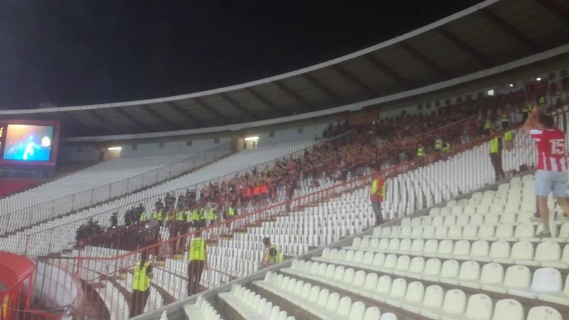 Spartak Trnava fans singing Kosovo je srce Srbije