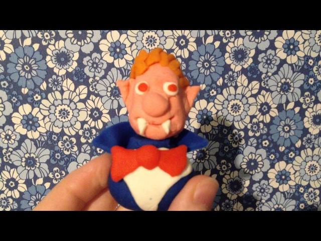 Граф Дракула поделка из пластилина Play Doh