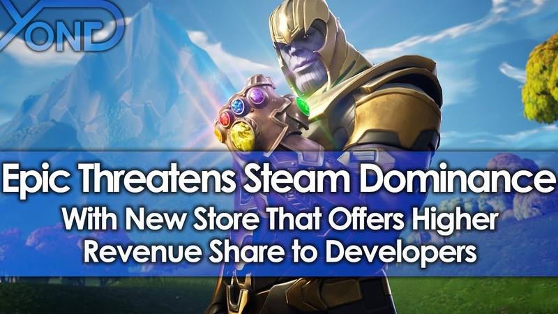 Epic Games Threatens Steam Dominance with New Store that Offers Higher Revenue Share to Devs