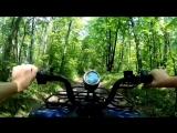 Прогулка на квадроциклах по лесу