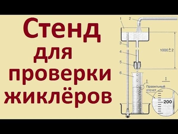 Стенд для проверки жиклеров своими руками