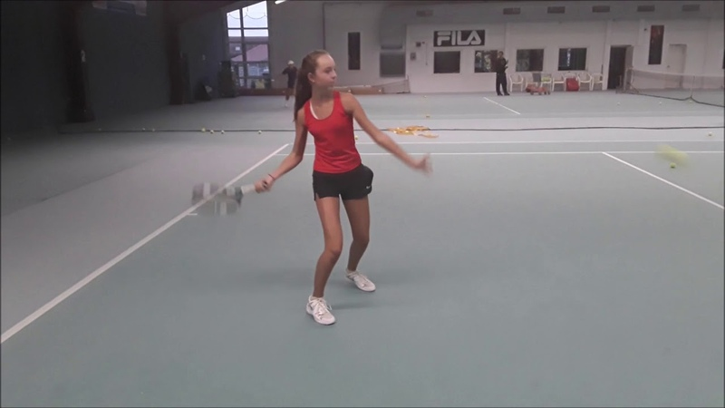 Tennis Drills - Corrective Drills - Forehand backswing, left arm releases too soon