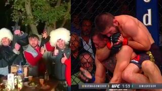 Как в России празднуют победу Хабиба над Конором Макгрегором на UFC 229