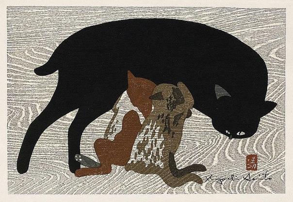 Серия работ японского художника Киеси Сайто «Зима в Айзу»(1907-1997).