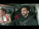 Mo Salah reacts to his chant