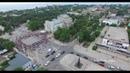 Крым Евпатория Театральная площадь выпускники 11 классов 2017 год с высоты птичьего полета