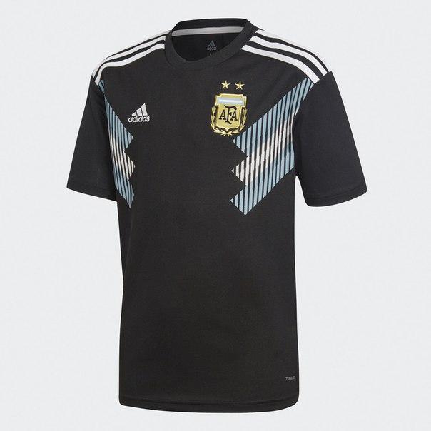 Гостевая игровая футболка сборной Аргентины