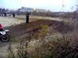 Первый мотокросс в Тамбове + падение