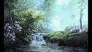 Garden Waterfall Palette Knife Painting | Paint with Kevin ®