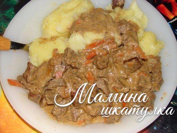Мясо с вареной картошкой рецепт с фото