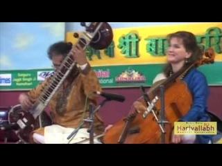 Pandit Shubendra Rao (sitar) Saskia Rao de-Haas (cello) - Part 1 (Live at The 136-th Harivallabh (23-25.12.2011)