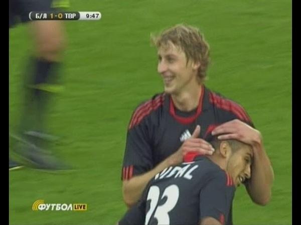 19.08.2010 Лига Европы 4 раунд 1 матч Байер (Германия) - Таврия (Украина) 3:0 1 тайм