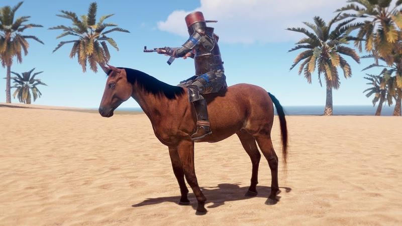 Rust Ездовая лошадь! Первый обзор!