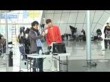Lee MinHo filming commercial for Jeju Air BTS