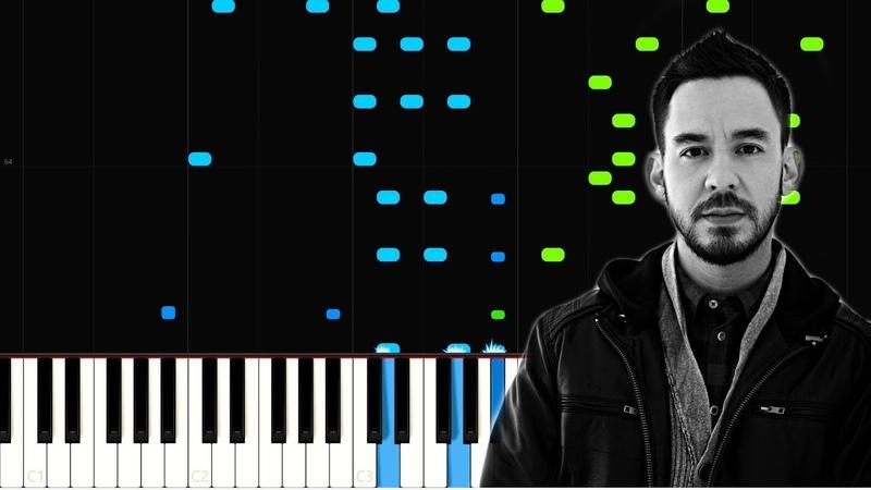 Watching As I Fall - Mike Shinoda   Synthesia Tutorial   Piano Cover Free Sheets