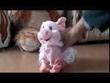 Детская игрушка свинка музыкальная и танцующая