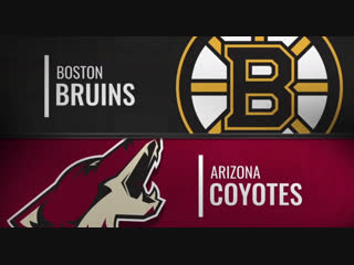 NHL Regular Season 2018-19   Boston Bruins-Arizona Coyotes