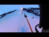Мурманск, Южный склон, открытие сезона 2014 .Экшен камера panasonic HX-A100