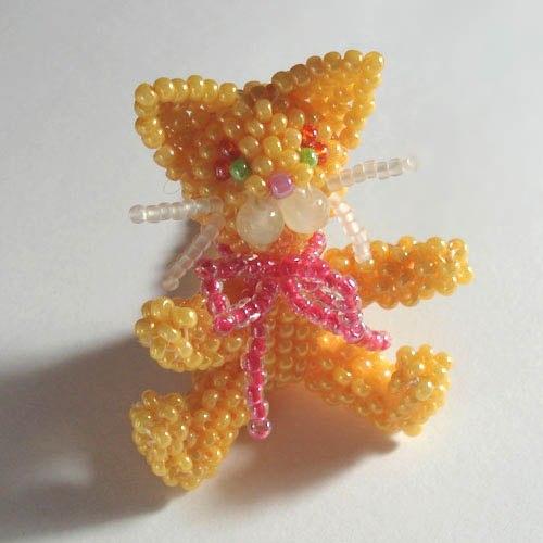 МК кот-рыжик | Бисерные
