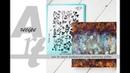 ArtReceipe: embossing folder for background/ АртРецепт: фон при помощи папки для тиснения