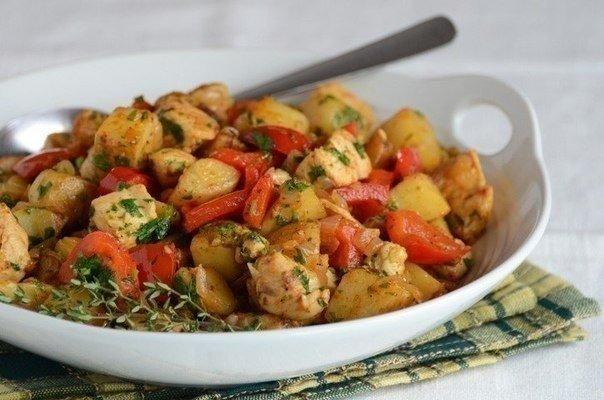 «Жаркое из овощей и индейки»
