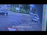 В Ленске водитель сбил ребенка на зебре. 17.08.18г