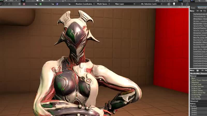 Whipped up Garudas bloodied shader last night just in time for devstream demo!