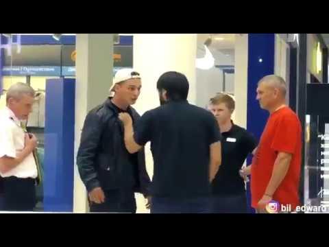 Пранкер Edaward Bil избил сотрудника торгового центра. Эдвард бил избил охраника