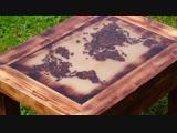 Стол со стилизованной картой мира из кофейных зерен от MILIC DIY