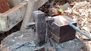 Blacksmithing Forging on a Colonial Style Nail Making Jig