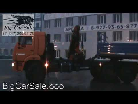 Автопоезд вездеход КАМАЗ 43118 с КМУ ИМ150N и полуприцеп НЕФАЗ 9334-10