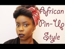 African Pin-Up Style - Attaché de foulard