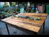 Как сделать обеденный стол для дачи. Очень не обычная идея!