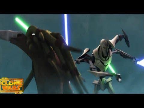 Кит Фисто и Надар Вебб vs Генерал Гривус. Финальная Битва. Star Wars The Clone Wars.