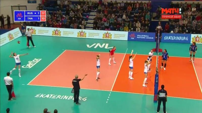 Волейбол Женщины Кубок Наций Россия Таиланд 16 05 2018