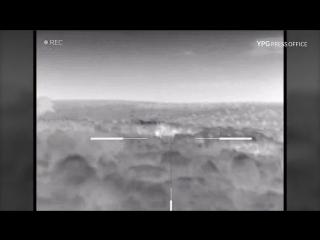 Снайпер курдов поражает цели с тепловизором