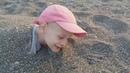 Адлер. Пляж Огонек. Закопали Глеба в песок. Закат.