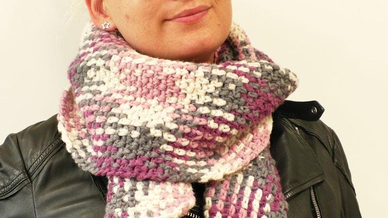 XXL Schal für den Herbst Häkeln | Color Pooling mit der Woolly Hugs Plan Wolle | Muster Häkeln