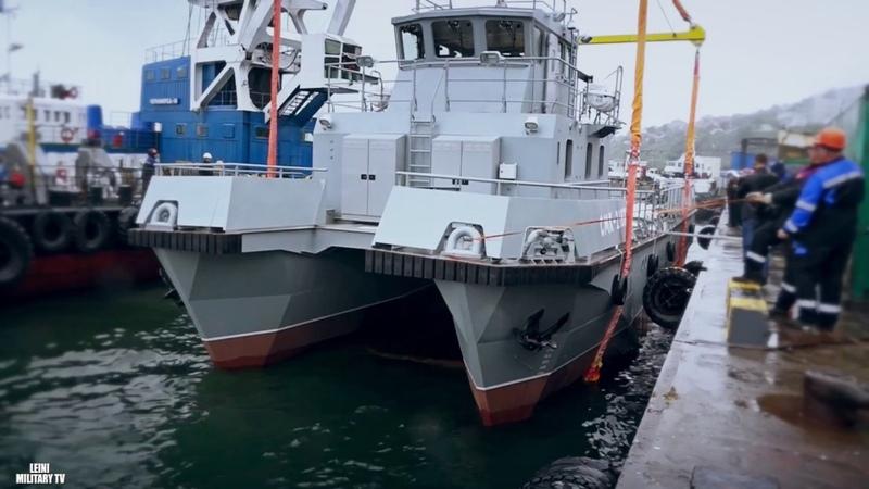 На Камчатке спустили на воду новый модульный поисково спасательный катер для ТОФ
