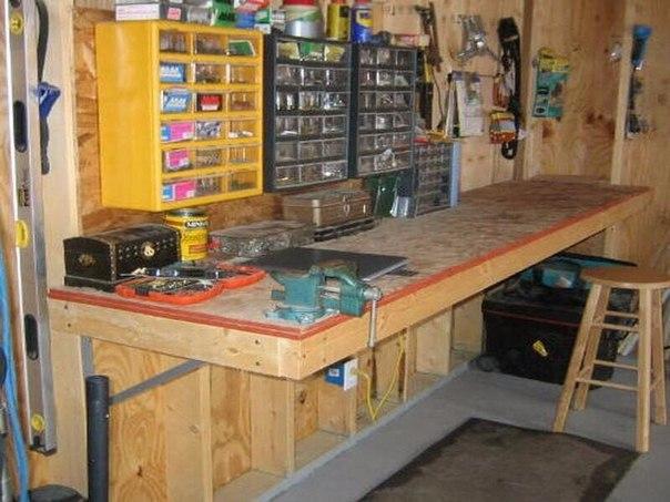 Как оборудовать рабочее место в гараже своими руками 6