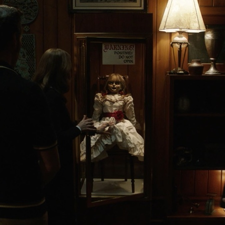 "Annabelle Comes Home on Instagram: ""They thought evil was contained. AnnabelleComesHome"""