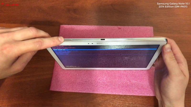 Galaxy Note 10.1 2014 Edition ( SM-P601 ) Hard Reset , сброс до заводских настроек , удаление ключа