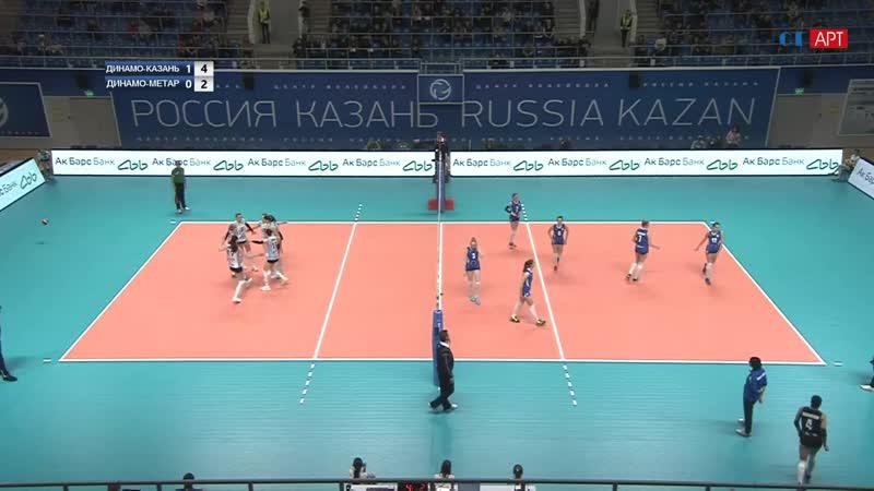 Волейбол Женщины Суперлига Динамо_Казань - Метар 09_01_2019